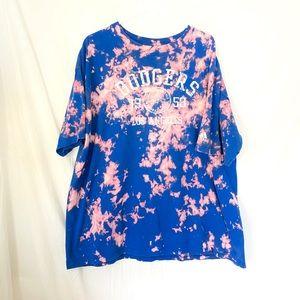 Custom dyed Los Angeles Dodgers T-shirt